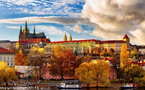 Picture autumn, Prague, Czech Republic