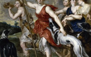 Picture picture, Peter Paul Rubens, mythology, Pieter Paul Rubens, Diana The Huntress