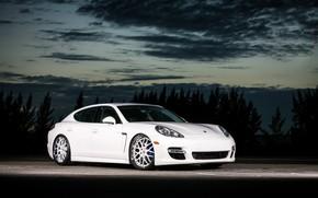 Picture Porsche, Panamera, with, rear, color, bumper, trim, matched