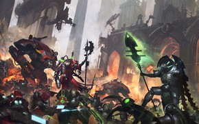 Picture necrons, Warhammer 40 000, lord necron, tech priest, forge world, Adeptus Mechanicus, Forgebane
