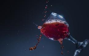 Wallpaper squirt, drops, wine, glass, background, macro
