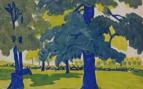 Picture 1915, Charles Ephraim Burchfield, Edge of the Woods, in Sunlight