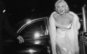 Picture smile, model, actress, blonde, car, Marilyn Monroe, Marilyn Monroe
