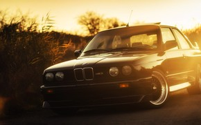 Picture Sunset, Auto, Black, BMW, Machine, Boomer, BMW, Lights, E30, BMW M3, BMW E30, BMW E30 …