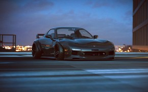 Wallpaper Car, by Khyzyl Saleem, Mazda, Future, Tuning, RX-7