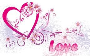 Wallpaper heart, postcard, love, vector, Valentine's Day