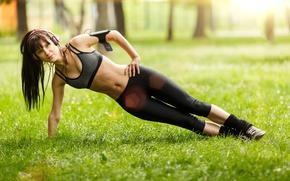 Wallpaper pose, workout, abs, fitnes, hardwork