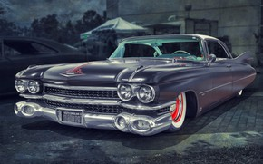 Wallpaper Cadillac, 1959, Fleetwood
