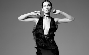 Picture model, black and white, Bella Hadid