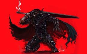 Wallpaper game, anime, berserk armor, man, powerful, bakemono, Berserk, blade, armor, sword, ken, Guts, manga, strong
