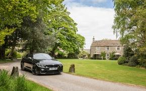 Wallpaper auto, trees, black, BMW, track, black, mansion, coupe, chic, metallic, M4