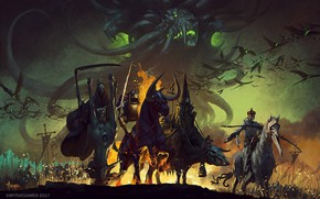 Picture fiction, the end of the world, art, Four Horsemen of the Apocalypse, The four horsemen …