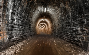 Picture road, the city, the tunnel