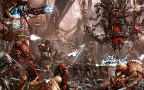 Picture Warhammer 40 000, tyranids, tech priest, Adeptus Mechanicus