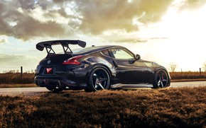 Picture Machine, Nissan, Drives, Black, Tuning, 370Z, Nismo, Icon, Spoiler
