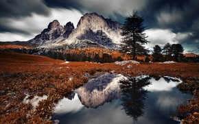 Picture mountains, nature, Dolomites Italie