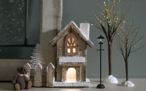 Picture home for Christmas, toys, decoration
