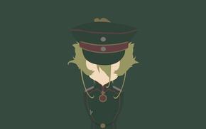 Picture girl, soldier, minimalism, military, war, anime, blonde, asian, manga, oriental, asiatic, powerful, strong, uniform, seifuku, …