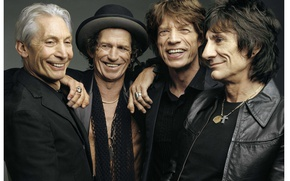 Wallpaper joy, smile, grey, background, group, The Rolling Stones, Mick Jagger, Keith Richards, classic, Ronnie Wood, ...