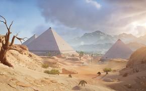 Picture sand, desert, pyramid, Egypt, Assassin's Creed: Origins