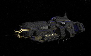 Picture spaceship, 3D graphics, space, flight