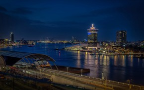 Picture night, lights, home, Amsterdam, panorama, Netherlands