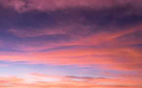 Wallpaper the sky, clouds, sunset, background, pink, colorful, sky, sunset, pink, beautiful