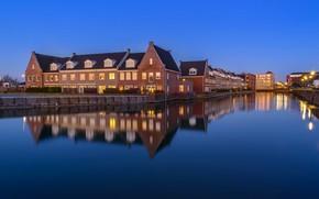 Picture lights, home, channel, Netherlands, Sommelsdijk