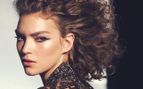Picture face, model, portrait, makeup, hairstyle, brown hair, closeup, Arizona Muse, Porter, David Bell-Mère, Arizona Muse