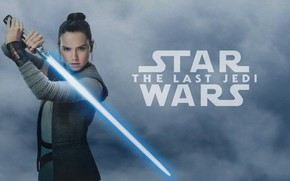 Picture pose, weapons, background, fiction, the inscription, sword, brunette, beauty, poster, lightsaber, Rey, Daisy Ridley, Daisy …