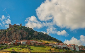 Picture The sky, Clouds, Home, Castle, Italy, Clouds, Sky, Italy, Castle, Italia, Town