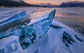 Picture mountains, ice, floe
