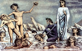 Picture Expressionism, 1976., Bernard, The hell of Dante, The damned caught in the ice, miserabilism, Buffet, …