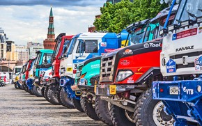 Picture The city, Sport, Master, Moscow, Renault, Trucks, Russia, Red square, Kamaz, KAMAZ, Start, Overcast, IVECO, …