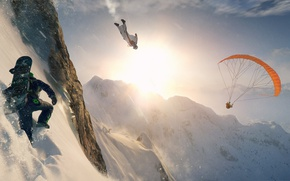 Picture Windows, ice, game, snow, man, extreme, PlayStation 4, PS4, Xbox One, Steep, E3 2016