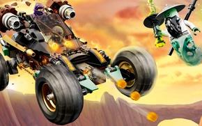 Picture car, toy, weapon, fight, LEGO, ninja, animated film, shinobi, animated movie, Ninjago, LEGO Ninjago