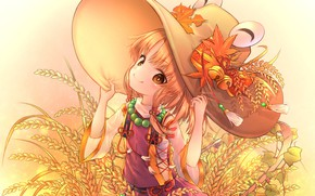 Picture look, hat, art, girl, Touhou, Touhou