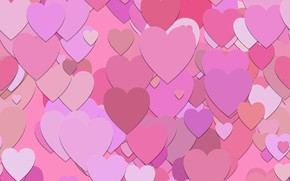 Picture Wallpaper, texture, hearts, pink, background, pattern, hearts