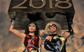 Picture women, year, costumes, A wonderful, marvelous and happy new year 2018