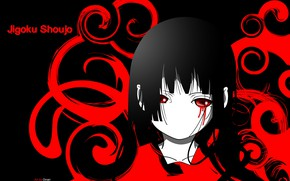Picture void, loneliness, darkness, pain, black hair, bloody tears, Enma Ai, Jigoku Shoujo, Hell girl, Hell …