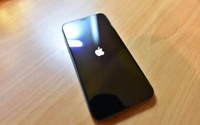 Wallpaper California, Cupertino, Black, Apple, iPhone X