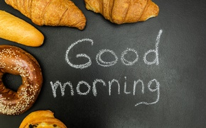 Picture donuts, cakes, good morning, croissants, growing