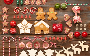 Picture cookies, candy, merry christmas, cookies, decoration, gingerbread, bells