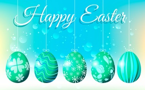 Picture eggs, Easter, congratulations