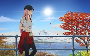 Wallpaper art, girl, Cute in France, Darling In The Frankxx, anime