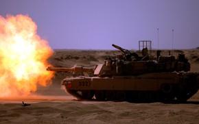 Picture gun, weapon, tank, M1A1 ABRAMS