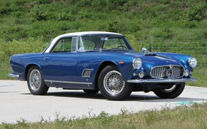 Picture Maserati, Roadster, Blue, Old, Convertible, 3500 GT