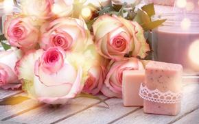 Wallpaper buds, heart, love, roses, pink, romantic, roses, flowers
