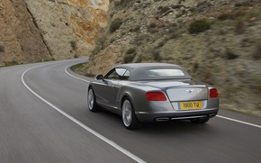 Picture road, rock, Bentley, Continental, GTC