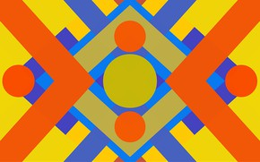 Picture circles, colored, triangles, figure